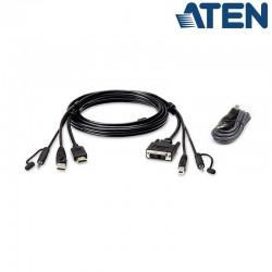 1,8m Kit de cable para KVM ''secure'' de HDMI a DVI-D USB con Audio Aten 2L-7D02DHX2