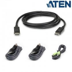 1,8m Kit de cable para KVM ''secure'' DisplayPort USB con Audio Aten 2L-7D02UDPX4
