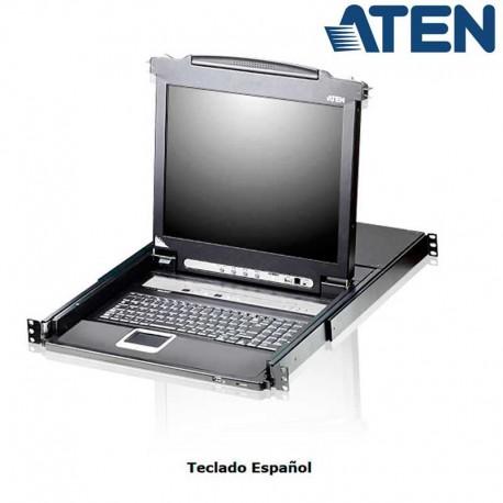 "Aten CL5708N - KVM LCD 19"" de 8 puertos USB PS/2 VGA, Rack 19"""