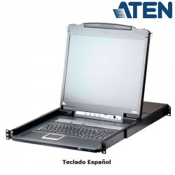 "Aten CL5708IN - KVM LCD 19"" 8 puertos USB&PS/2 VGA,Sobre IP (1 Local /1 Remoto), USB Perif. Rack 19''"