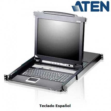 "Aten CL5716M - KVM LCD 17"" de 16 puertos USB PS/2 VGA, para Rack 19''"