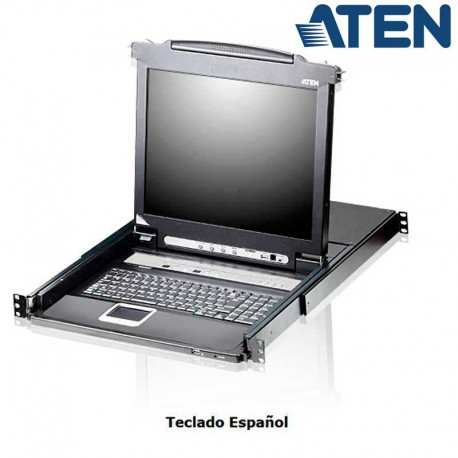 "Aten CL5716N - KVM LCD 19"" de 16 puertos USB PS/2 VGA, para Rack 19''"