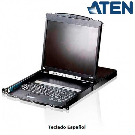 "Aten CL5816N - KVM LCD 19"" de 16 puertos, Dual Rail para Rack 19''"