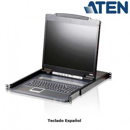 "Aten CL3000N - Consola Ligera Teclado, Touch Pad, LCD 19"" para Rack19''"