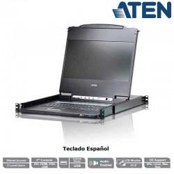"Aten CL6700MW - Consola LCD 17.3"" Panorámica VGA /DVI/HDMI Rack 19''"