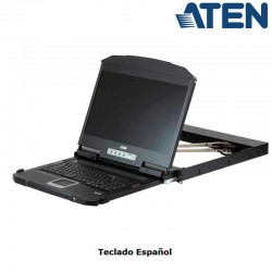 Aten CL3800NW - Consola LCD 18,5'', USB-HDMI-DVI-VGA , Dual Rail para Rack 19''
