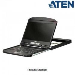 "Aten CL3100NX - Consola LCD 18,5"" VGA, Corta Profundidad 1U | Marlex"