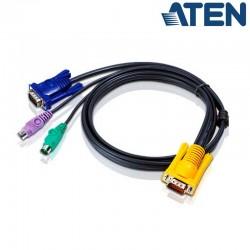 6m PS/2 VGA KVM Cable 3 en 1 Aten 2L-5206P