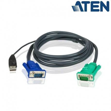Aten 2L-5203U - 3m USB VGA KVM Cable   Marlex Conexion