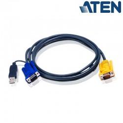 6m USB VGA KVM Cable 3 en 1 Aten 2L-5206UP