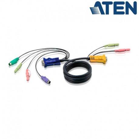 Aten 2L-5302P - 1.8m PS/2 VGA KVM Cable con Audio | Marlex Conexion