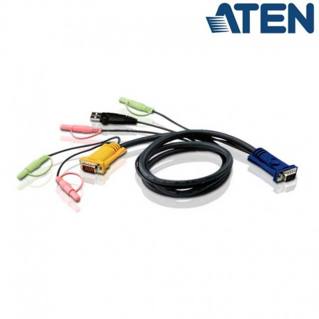 Aten 2L-5302U - 1.8m USB VGA KVM Cable con Audio   Marlex Conexion