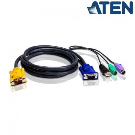 Aten 2L-5302UP - 1.8m USB / PS2 VGA KVM Cable | Marlex Conexion