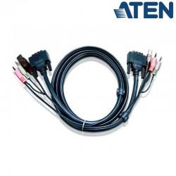 3m USB DVI-D Single Link KVM Cable con Audio Aten 7D03U