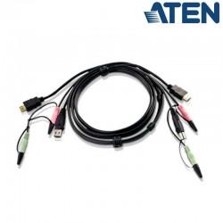 1,8m USB HDMI KVM Cable con Audio Aten 2L-7D02UH