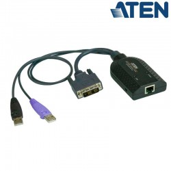 Adaptador KVM USB-DVI a Cat5e/6 (Virtual Media) Aten KA7166