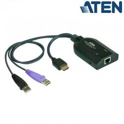 Adaptador KVM USB-HDMI a Cat5e/6 (Virtual Media) Aten KA7168
