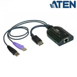 Adaptador KVM USB-DisplayPort a Cat5e/6 (Virtual Media) Aten KA7169