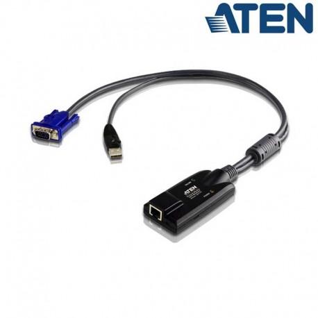 Aten KA7175 - Cable adaptador KVM USB-VGA a Cat5e/6 (Virtual Media) Módulo para CPU