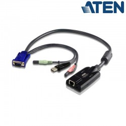 Adaptador KVM USB-VGA-Audio a Cat5e/6 (Virtual Media) Aten KA7176