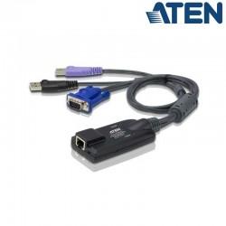 Adaptador KVM USB-VGA a Cat5e/6 (Virtual Media, Smart Card) Aten KA7177