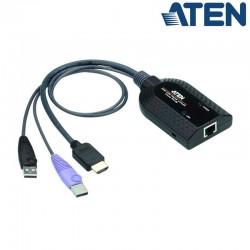 Adaptador KVM USB-HDMI a Cat5e/6 (Virtual Media) Aten KA7188