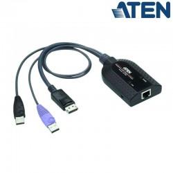 Adaptador KVM USB-DisplayPort a Cat5e/6 (Virtual Media) Aten KA7189