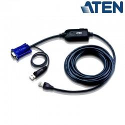 Cable adaptador KVM USB-VGA a Cat5e/6 de 4,5 metros Aten KA7970