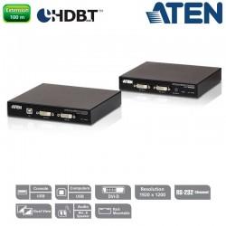 Extensor KVM USB DVI de vista doble HDBaseT™ 2.0 (1920 x 1200 a 100 m) Aten CE624
