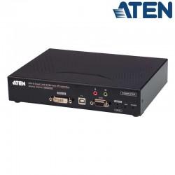 Transmisor KVM USB DVI-D (2K x 2K) sobre LAN, con Audio y RS232 Aten KE6910T