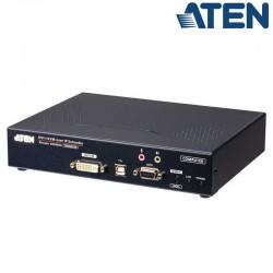 Transmisor KVM USB-DVI-I con Audio y RS232 sobre LAN Aten KE6900AT