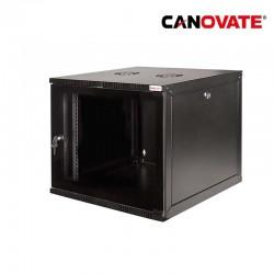 "Canovate W12B54B - Armario Rack Mural de 19"" 12U 540 x 550 Laterales desmontables"
