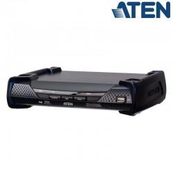 Receptor KVM USB DVI-D (2K x 2K) sobre LAN y Dual SFP con POE Aten KE6922R