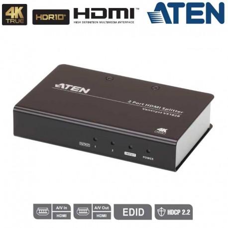 Aten VS182B - Splitter HDMI 2.0 4K real de 2 puertos
