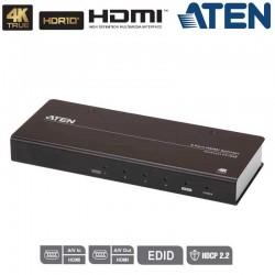 Video Splitter HDMI 2.0 4K Real de 4 Puertos (60Hz 4:4:4) Aten VS184B