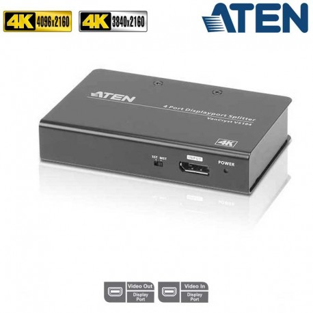 Aten VS194 -Video Splitter DisplayPort 4K 4 puertos