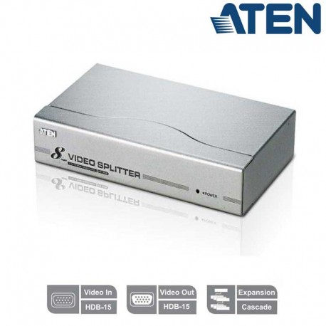 Aten VS98A - Video Splitter VGA 8 puertos (300Mhz)