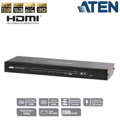 Aten VS1808T - Splitter HDMI 8 puertos sobre Cat5e/6