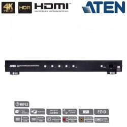 Conmutador HDMI 4K Real de 4 puertos con salida dual y RS232 Aten VS482B