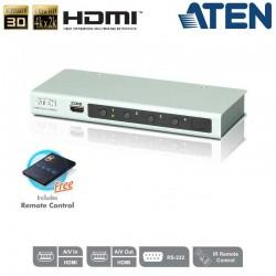 Conmutador HDMI 4K de 4 puertos con RS232 Aten VS481B