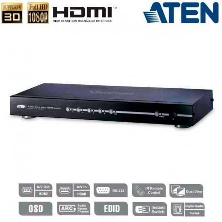 Aten VS482 - Conmutador HDMI 4 puertos salida dual