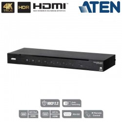 Conmutador HDMI 4K Real de 8 puertos Aten VS0801HB
