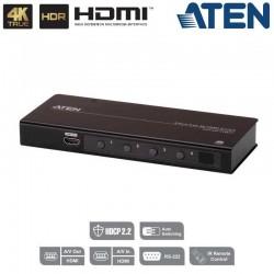 Conmutador HDMI 4K Real de 4 puertos con RS232 Aten VS481C