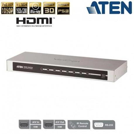 Aten VS0801H - Conmutador HDMI de 8 puertos