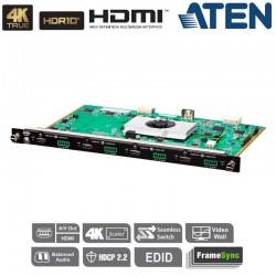 Tarjeta de salida HDMI 4K Real de 4 puertos con escalador Aten VM8824