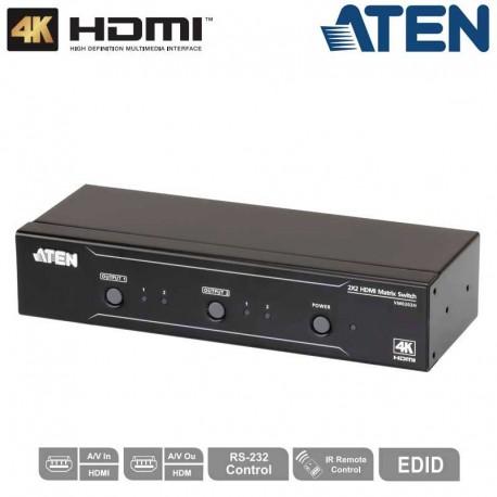 Aten VS0202H - Conmutador Matricial HDMI 2x2, 4K