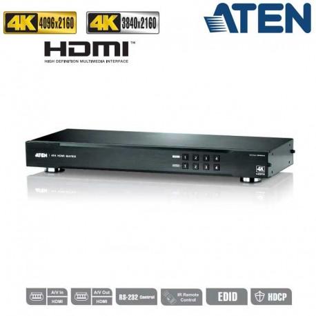 Aten VM0404HA - Conmutador Matricial HDMI 4x4, 4K