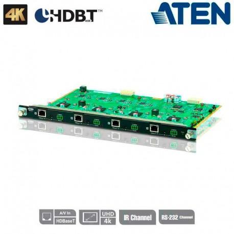 Aten VM7514 - Tarjeta de Entrada HDbaseT de 4 puertos para VM1600 y VM3200