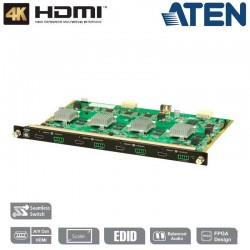 Tarjeta de salida HDMI 4K de 4 puertos con escalador Aten VM8814