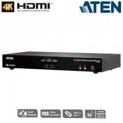 KVM de 2 Puertos USB 3.0 HDMI 4K Dual View Aten CS1842